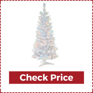Pre-Lit Artificial Christmas Tree in White Lights