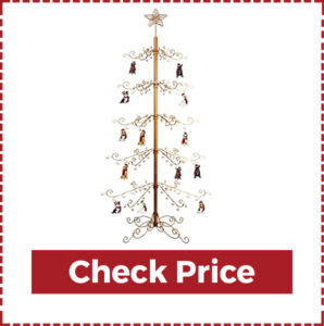 Hohiya Wrought Metal Christmas Tree in Gold Color
