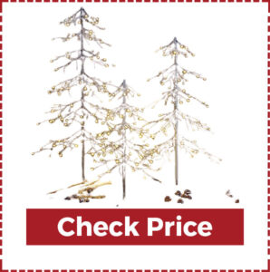 Light Share Snowy Fir Christmas Tree in Warm White Led