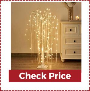 Vanthylit 4ft White Willow Tree Light with Fairy Lights