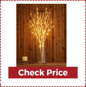 Modern Tree Branch with Fairy Lights Christmas Tree