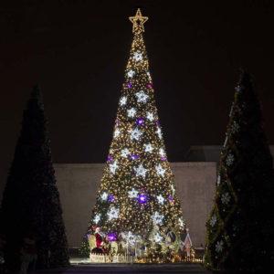 Modern Christmas Tree with LED Lights