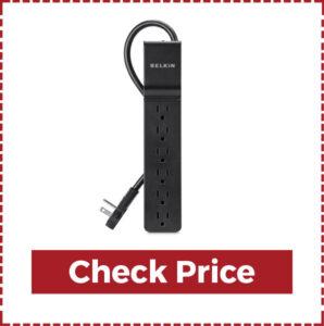 Belkin 6-outlet Power Strip Surge Protector Flat Rotating Plug