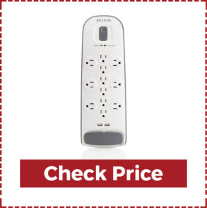 Belkin 12- Outlet Surge Protector Power Strip with USB ports