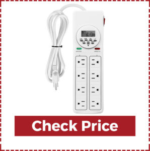 BN-LINK 8 Outlet Surge Protector with 7-Day Digital Timer