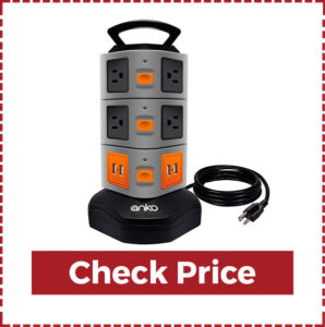 Power Strip Tower Surge Protector with USB & 14 Outlet